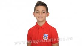 Tricou Polo Rosu Junior Produs Oficial Steaua Bucuresti