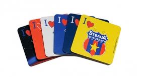 Set , suport pentru Pahare Produs Oficial Steaua Bucuresti