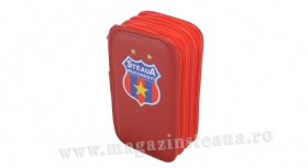 Penar 3 Compartimente Rosu Produs Oficial Sub Licenta Steaua Bucuresti