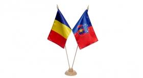 Steag Dublu Pentru Birou  Produs Oficial ''sub licenta'' Steaua Bucuresti