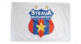 Steag  Sigla Alb Produs Oficial Sub Licenta Steaua Bucuresti