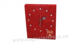 Ceas Vintage Rosu 001  Produs Oficial STEAUA Bucuresti