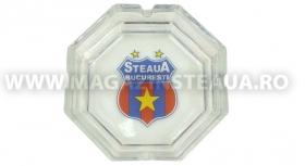 Scrumiera Sticla Hexagon Produs Oficial STEAUA Bucuresti