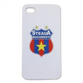 Carcasa Alba Iphone 4/4S Produs Oficial STEAUA Bucuresti