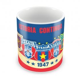 Cana Istoria Siglei Steaua Bucuresti 1947 Produs Oficial ''sub licenta'' Steaua Bucuresti