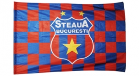 Steag  R/A Printat Patratele Mic Produs Oficial Sub Licenta Steaua Bucuresti