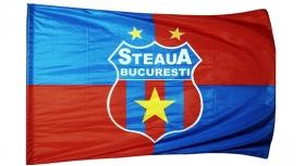 Steag  Printat Patrate Mic Produs Oficial Sub Licenta Steaua Bucuresti