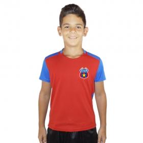 Tricou Fotbal Junior Ros/Albastru Steaua Bucuresti