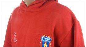Hanorac Bumbac Rosu Junior Produs Oficial ''sub licenta'' Steaua Bucuresti