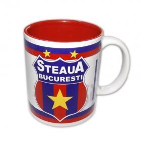 Mug 002 Red Interior Official Product  Steaua Bucuresti