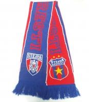 Fular Steaua Rosu Albastru Tricotat