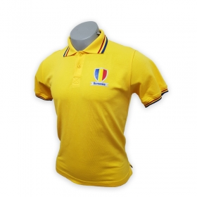 Tricou Polo Galben Romania Adult