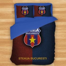 Lenjerie Pat Dublu Produs Oficial ' sub licenta''  Steaua Bucuresti
